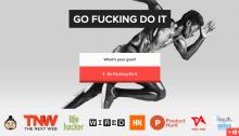 Первый экран интернет проекта