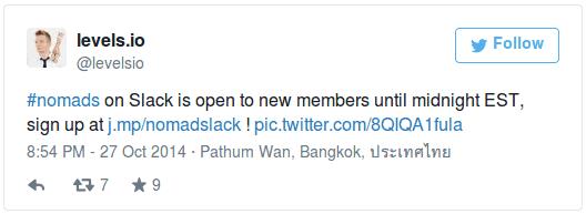 Сообщение в твиттере об открытии интернет чата