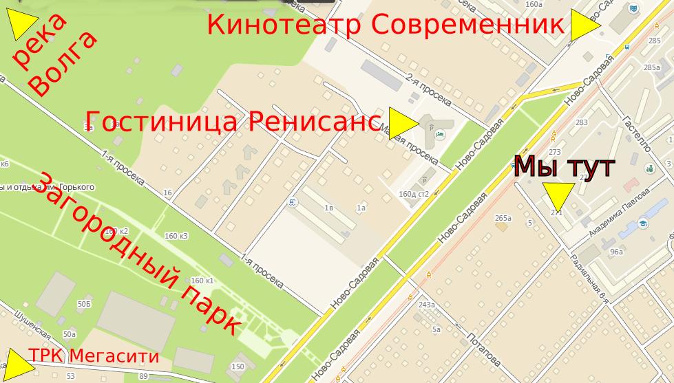 Схема расположения объекта