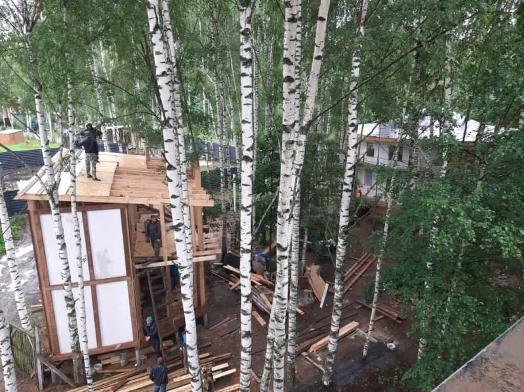 Строительство дома из сена